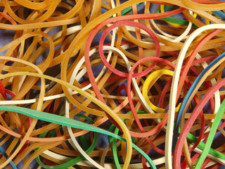 Rubber bands close up