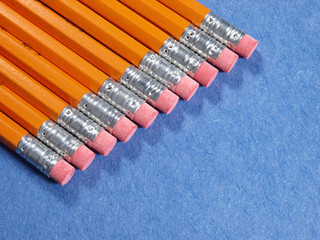 Pencil erasers diagonal