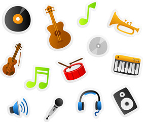 music cartoons set