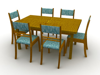 Chairs and a table