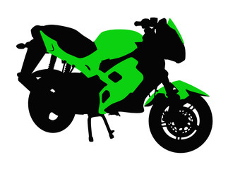 Poster Motorcycle Green motorcycle