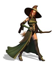Cute Witch - 3D render