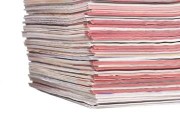Piles of Color Magazines