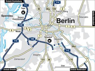 Stadtplan Berlin, Deutschland