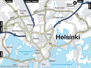 Stadtplan Helsinki