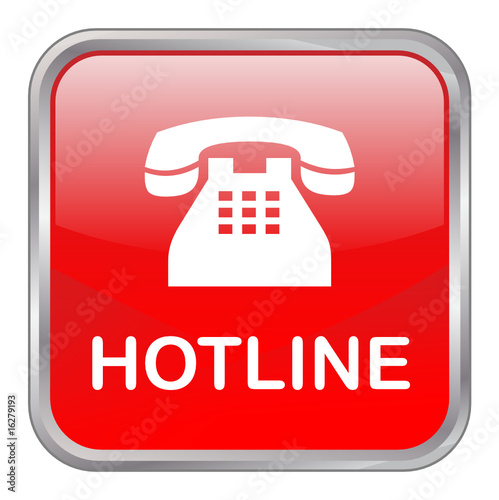 square vector button hotline red stock image and royalty free
