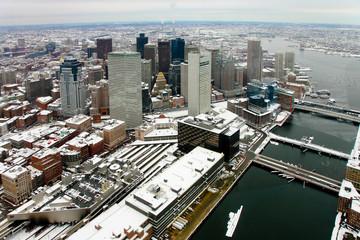 Boston from sky
