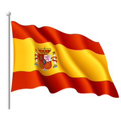 Flag of Spain. Vector.