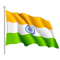 Flag of India. Vector.