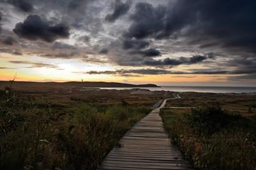 Puesta de sol en Valdoviño (Galicia)