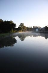 le canal de Briare le matin