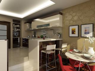 kitchen in modern style 2
