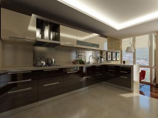 kitchen in modern style 1