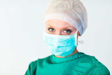 Close-up of an attractive surgeon