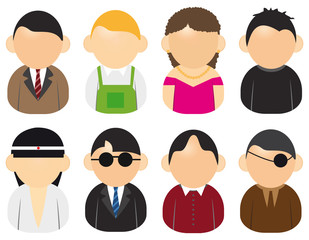 set of peoples icons 002