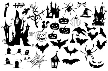 Symbolsammlung für Halloween