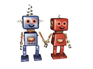 Fototapeta computer love robot love obraz