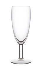 Isolated empty vector champagne flute