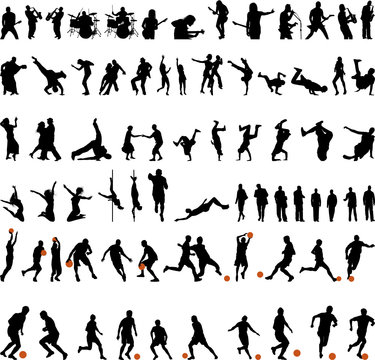 sport and dance silhouette