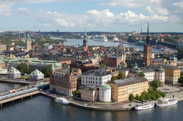 Riddarholmen island at Stockholm, Sweden