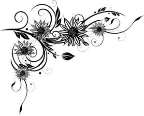 Sonnenblumen, Sommer, Blumen Ranke