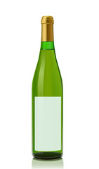 Vector illustration glass bottle with White wine