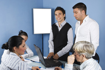 Business people in office working