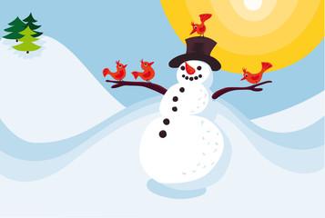 Glücklicher Schneemann