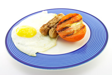 Cooked Breakfast Items on a Plate