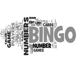 Bingo word cloud