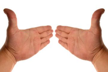 dans le sens des mains