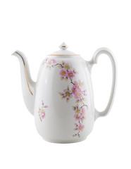 Vintage ceramic teapot, isolated.