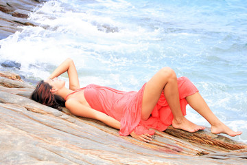 woman relaxing in the afternoon
