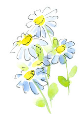 Floral painted background.