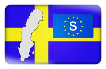 3D-Button Europäische Union - Schweden