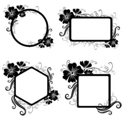 """Set of Vector Floral vintage frame (From my """"Floral collection"""")"""