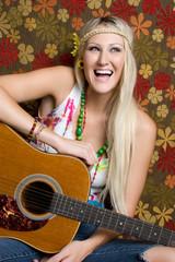 Hippie Guitar Woman