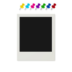 Blank Picture Frame And Pushpins