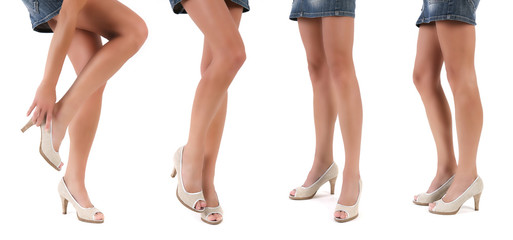collection of beautiful slim womans legs