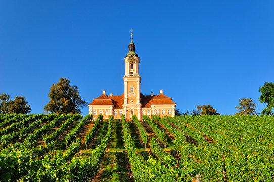 The baroque Birnau monastery church