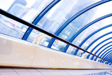 fragment of futuristic corridor