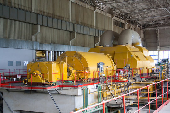Old ussr steam turbine made by LMZ