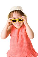 Girl holding sunglasses