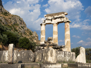 columns greek at Delphi
