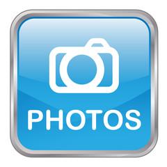 """Square vector """"PHOTOS"""" button (blue)"""