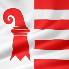 Flagge des Kantons Jura - Schweiz