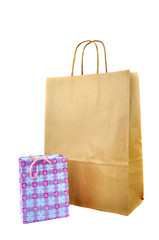 Two Paper Bags Standing