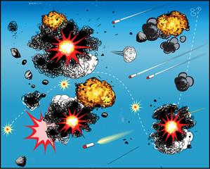 Comic book battle