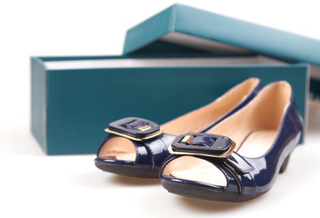 woman shoes and box.