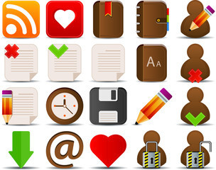 Internet and blogger icons